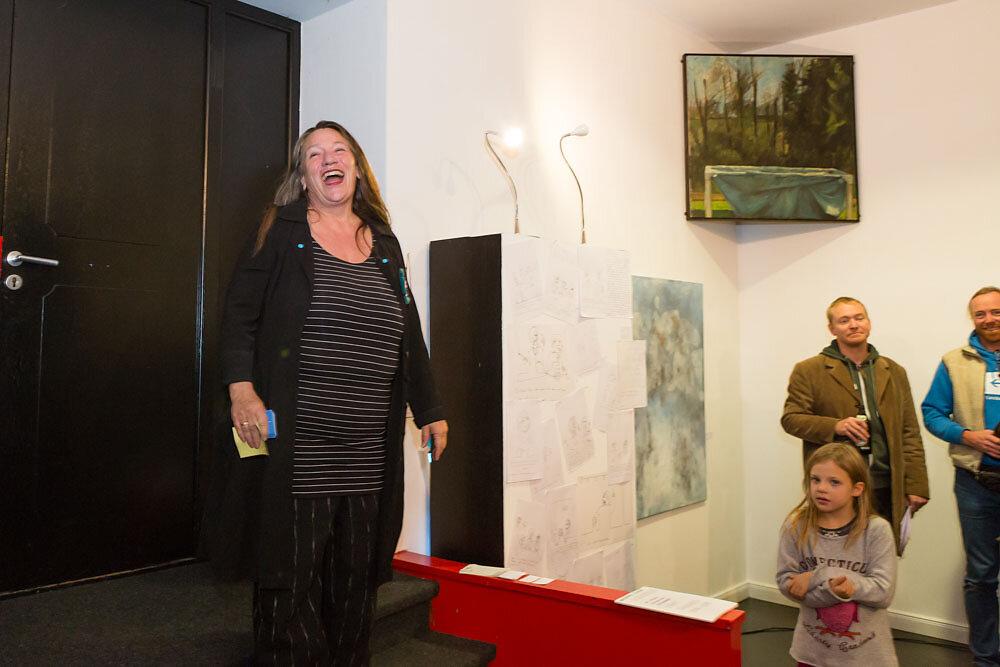 Titel Gruppenausstellung BLAU Nov. 2016 in Dießen im Blauen Hau