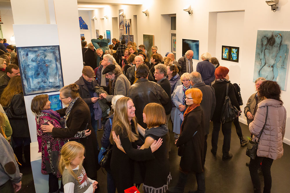 Gruppenausstellung BLAU Nov. 2016 in Dießen im Blauen Haus
